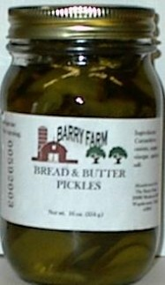 glass of Barry Farm Bread and Butter Pickles